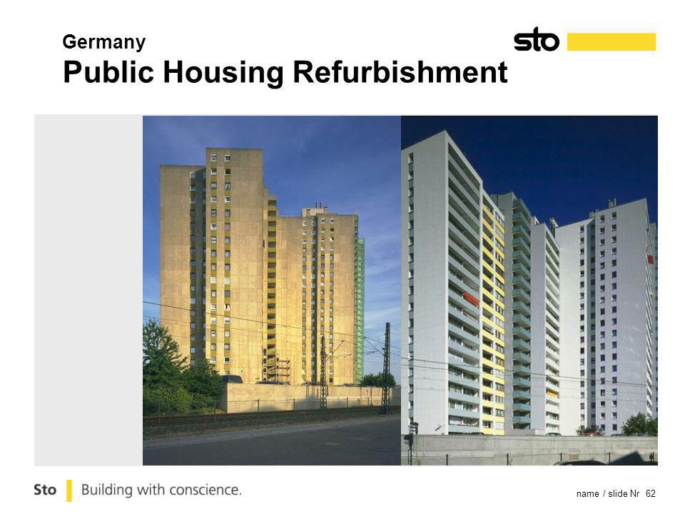 name / slide Nr 62 Germany Public Housing Refurbishment