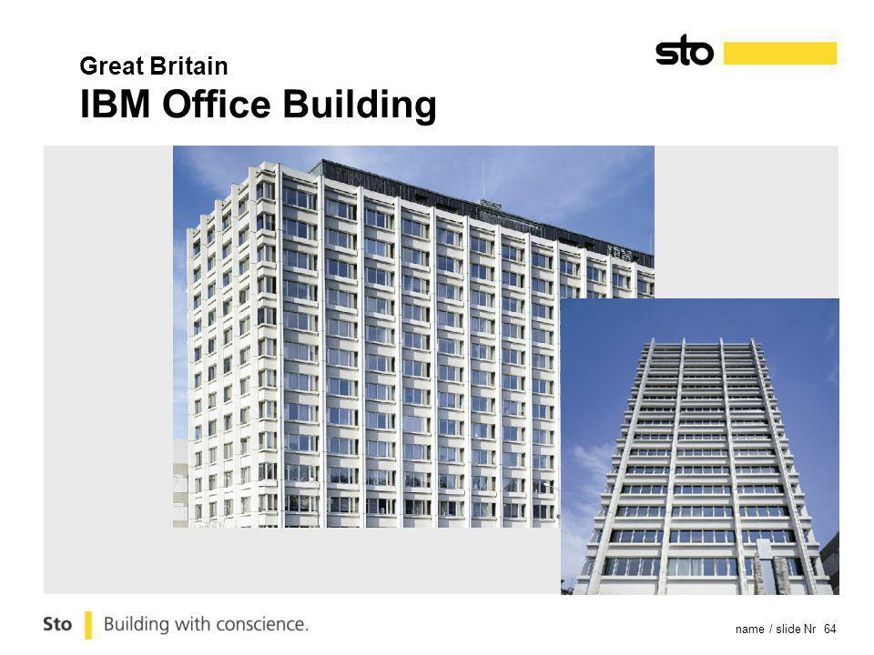 name / slide Nr 64 Great Britain IBM Office Building