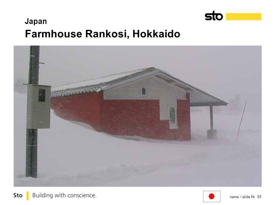 name / slide Nr 65 Japan Farmhouse Rankosi, Hokkaido