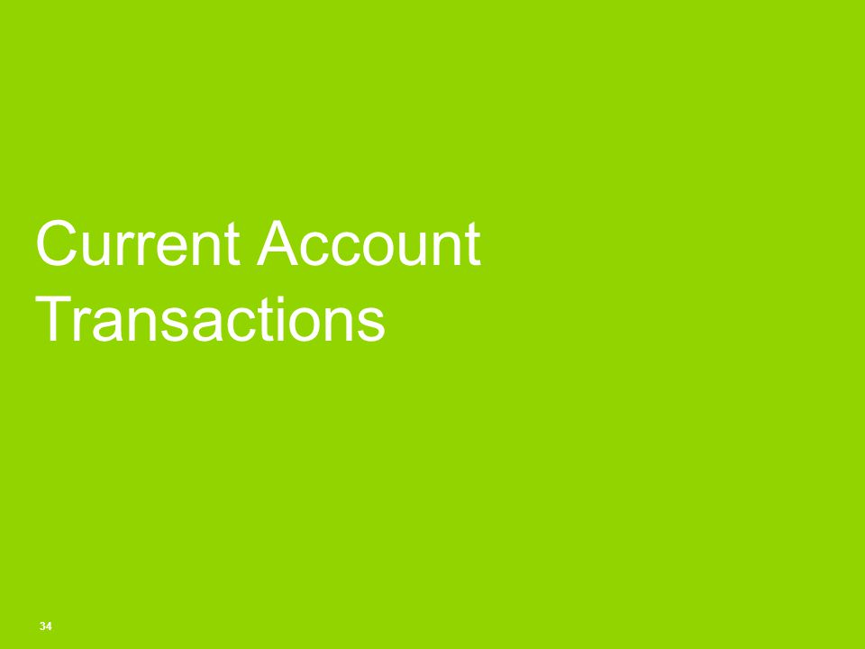 Current Account Transactions 34