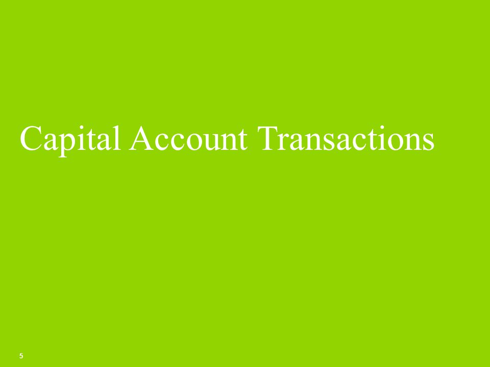 Capital Account Regulations 6 Permissible Capital Account Transactions – Para 3 of the Capital Account Regulations (A) transactions of a person resident in India specified in Schedule I (B) transactions of a person resident outside India specified in Schedule II Prohibited Capital Account Transactions – Para 4 of the Capital Account Regulations Business of chit fund Nidhi Company Agricultural or plantation activities Real estate business, or construction of farm houses, Trading in Transferable Development Rights (TDRs) Real estate business does not include development of townships, construction of residential/commercial premises, roads or bridges.