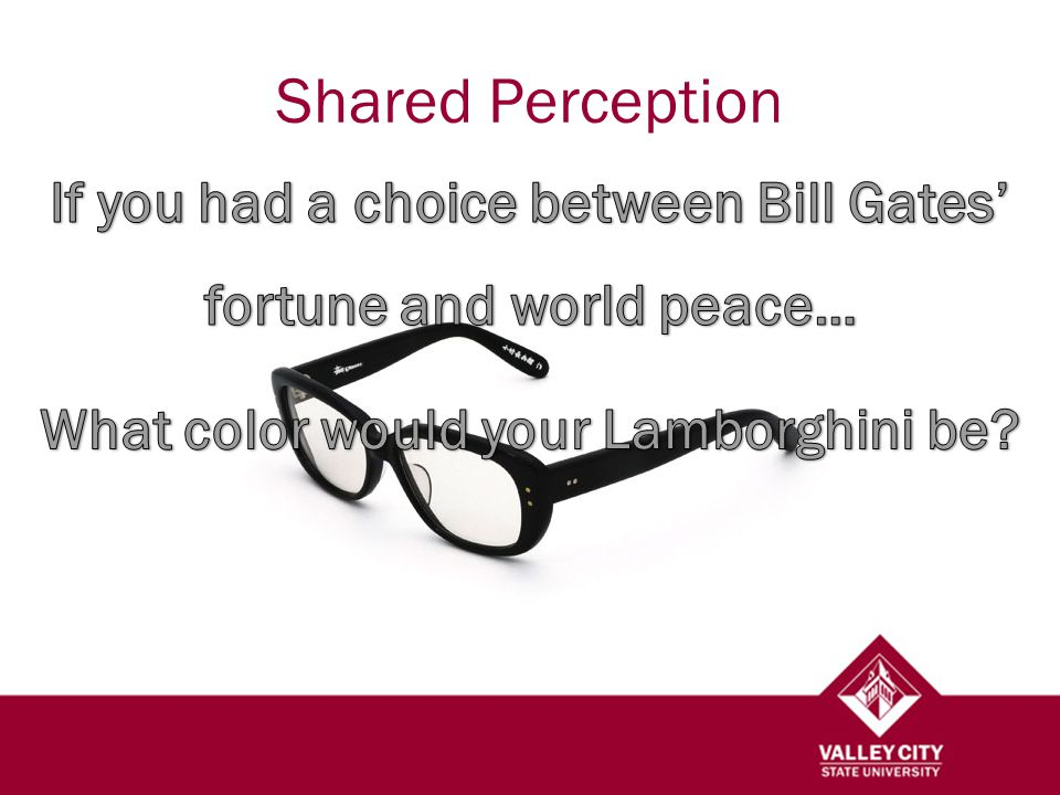 Shared Perception