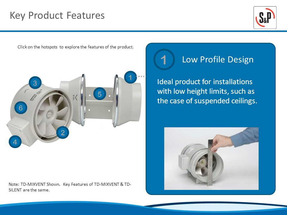 Key Product Features Low Profile Design Click on the hotspots to explore the features of the product.