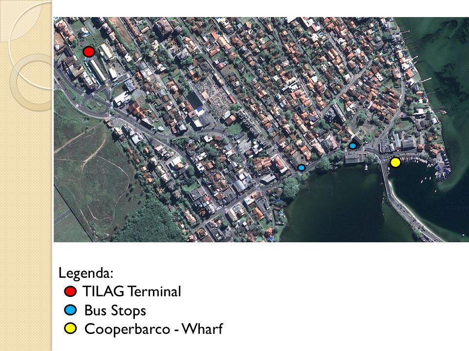 Legenda: TILAG Terminal Bus Stops Cooperbarco - Wharf
