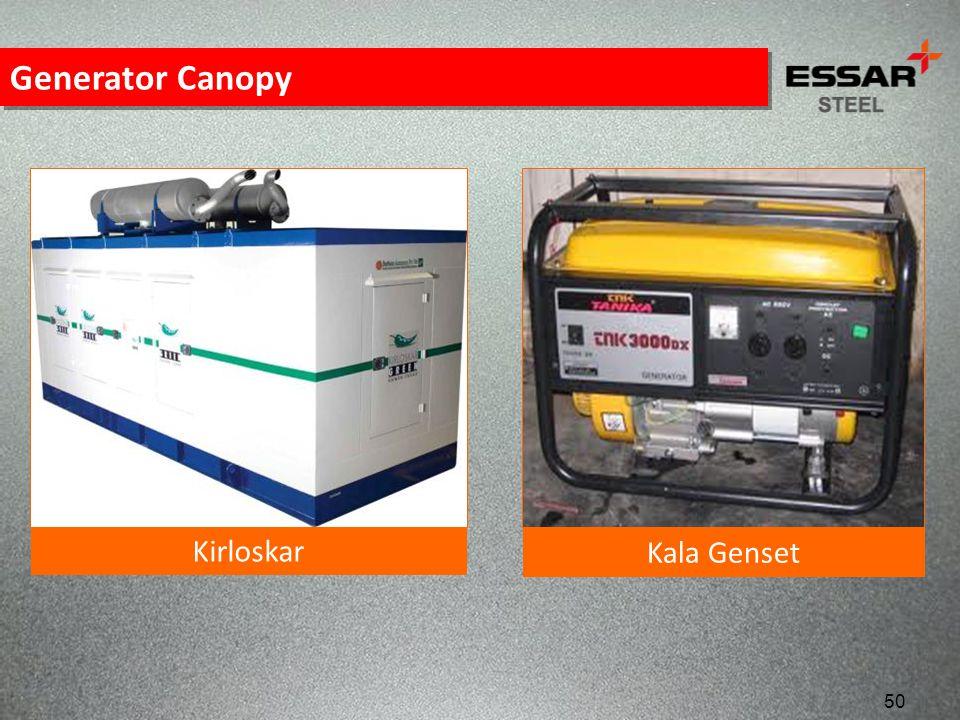 Generator Canopy Kirloskar Kala Genset 50