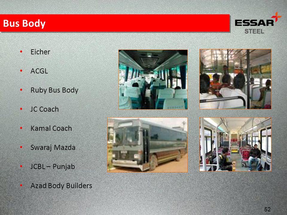 Bus Body Eicher ACGL Ruby Bus Body JC Coach Kamal Coach Swaraj Mazda JCBL – Punjab Azad Body Builders 52