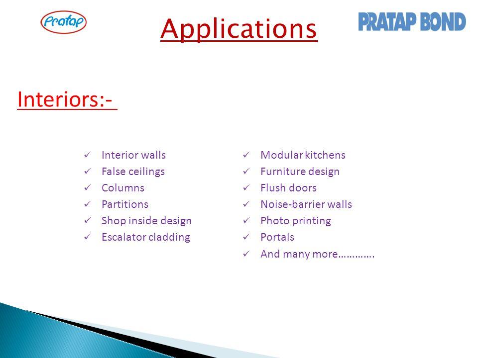 Interiors:- Applications