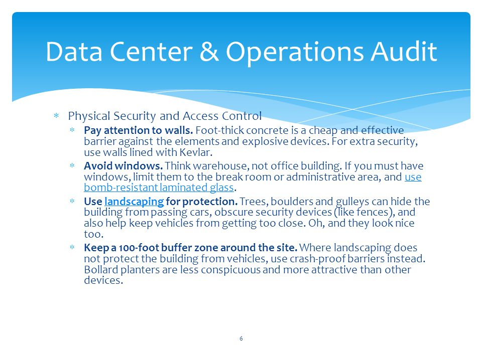 Data Center Operations Roles and Responsibilities Segregation of Duties E.g.