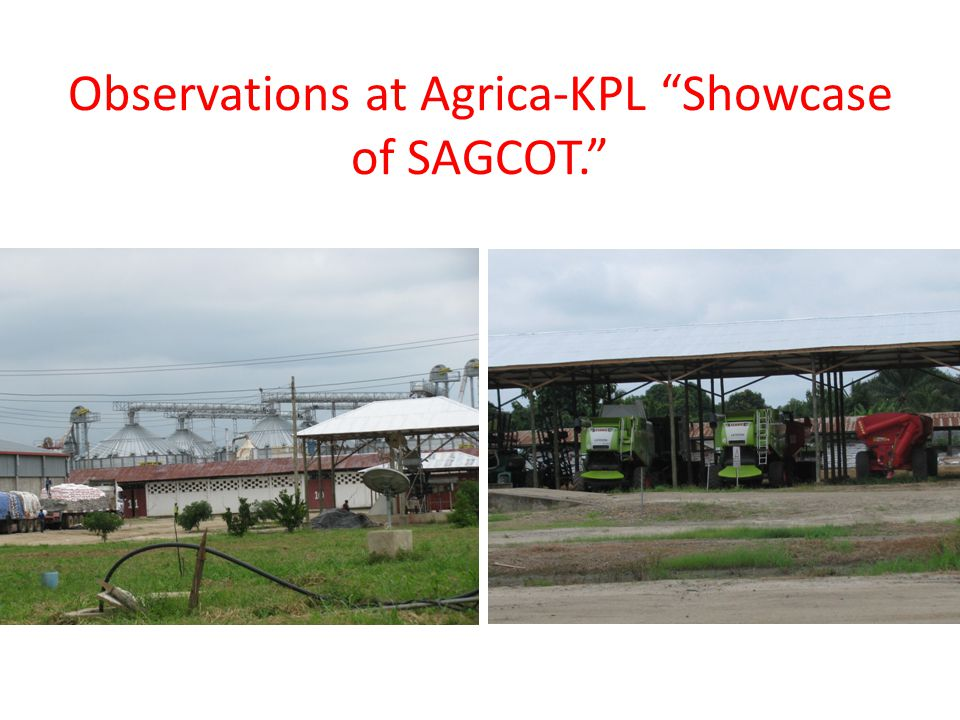 Observations at Agrica-KPL Showcase of SAGCOT.