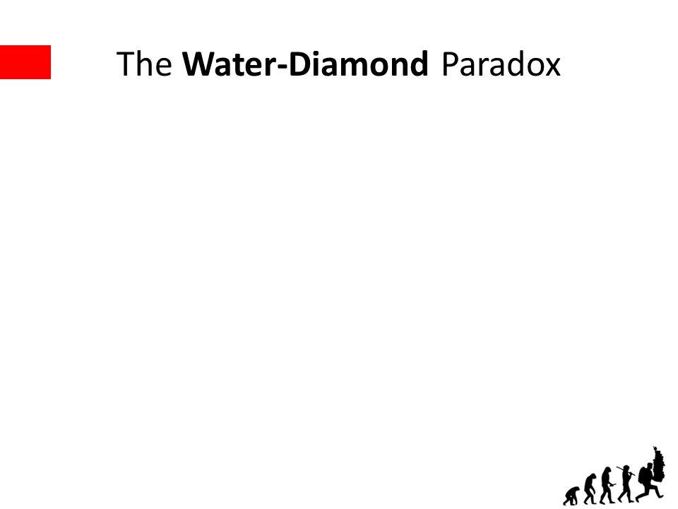The Water-Diamond Paradox