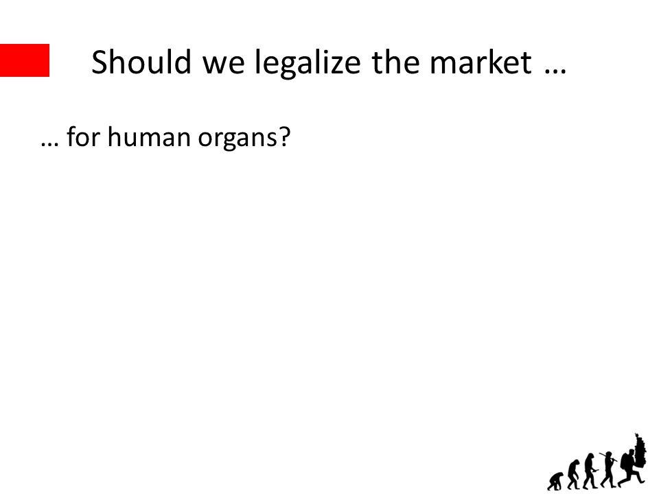 Should we legalize the market … … for human organs?