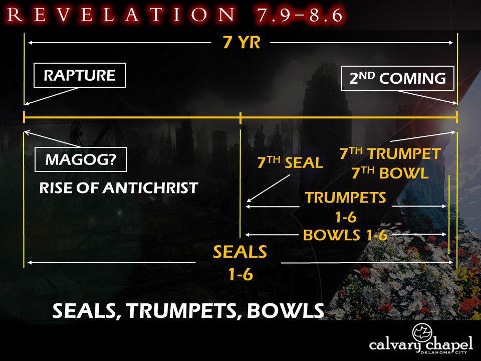 SEALS, TRUMPETS, BOWLS RAPTURE 2 ND COMING MAGOG RISE OF ANTICHRIST