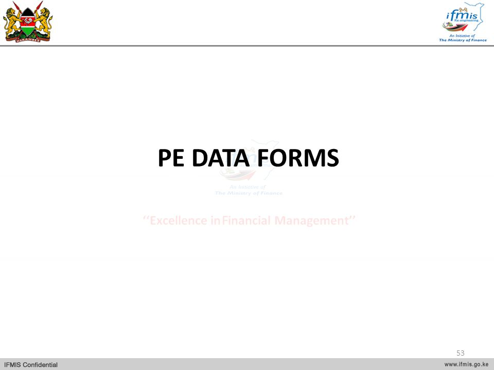 PE DATA FORMS 53