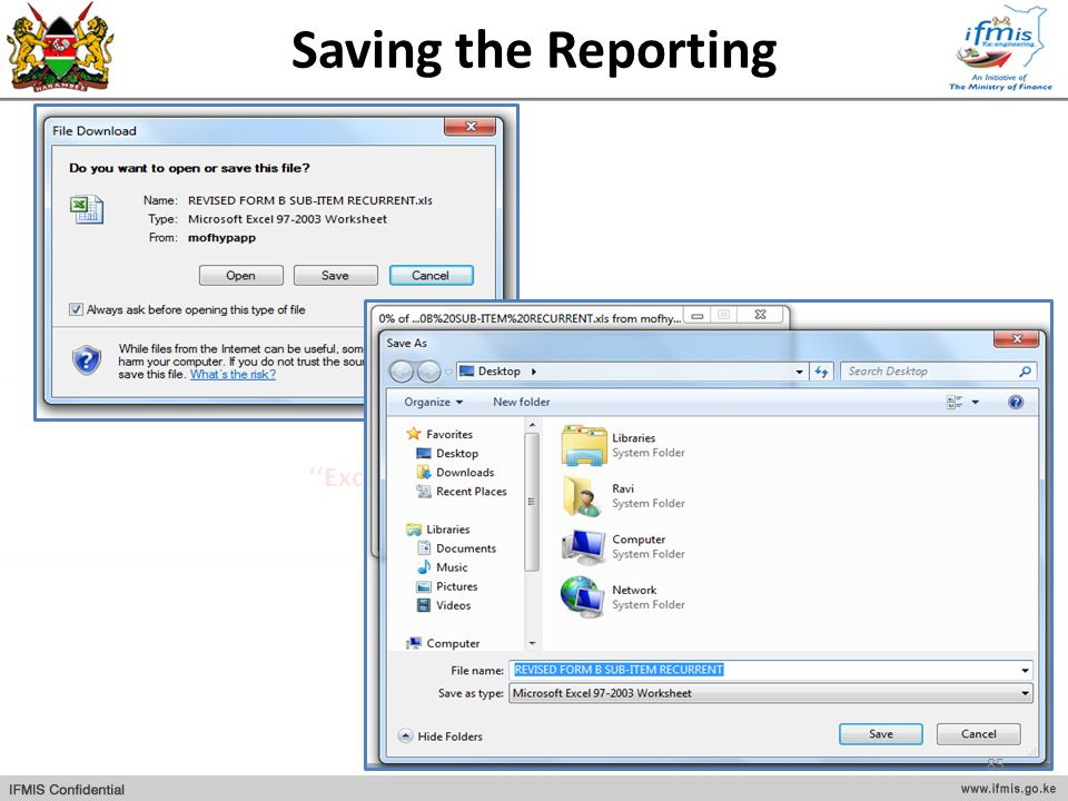 Saving the Reporting 85