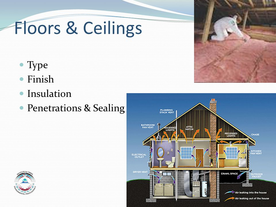 Floors & Ceilings Type Finish Insulation Penetrations & Sealing