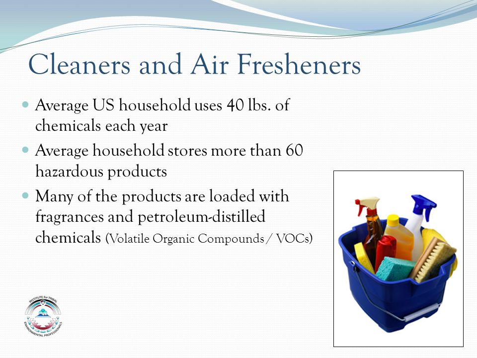 Cleaners and Air Fresheners Average US household uses 40 lbs.