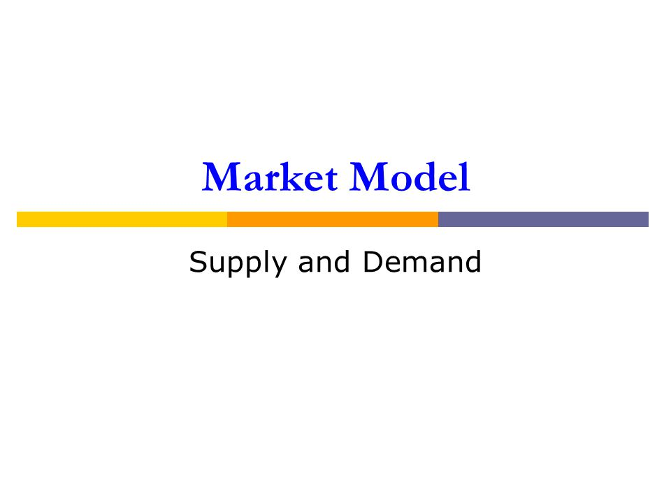 Market Model Supply and Demand