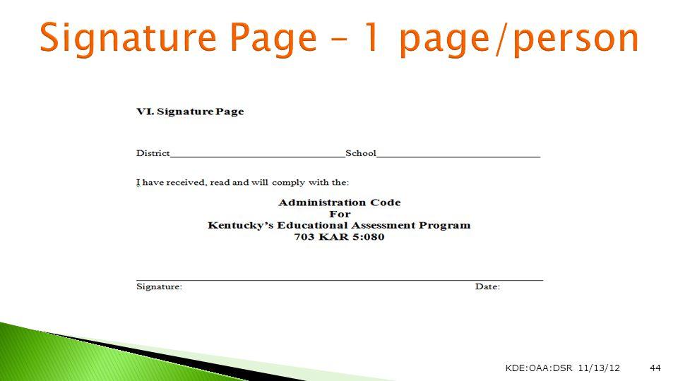 KDE:OAA:DSR 11/13/1244