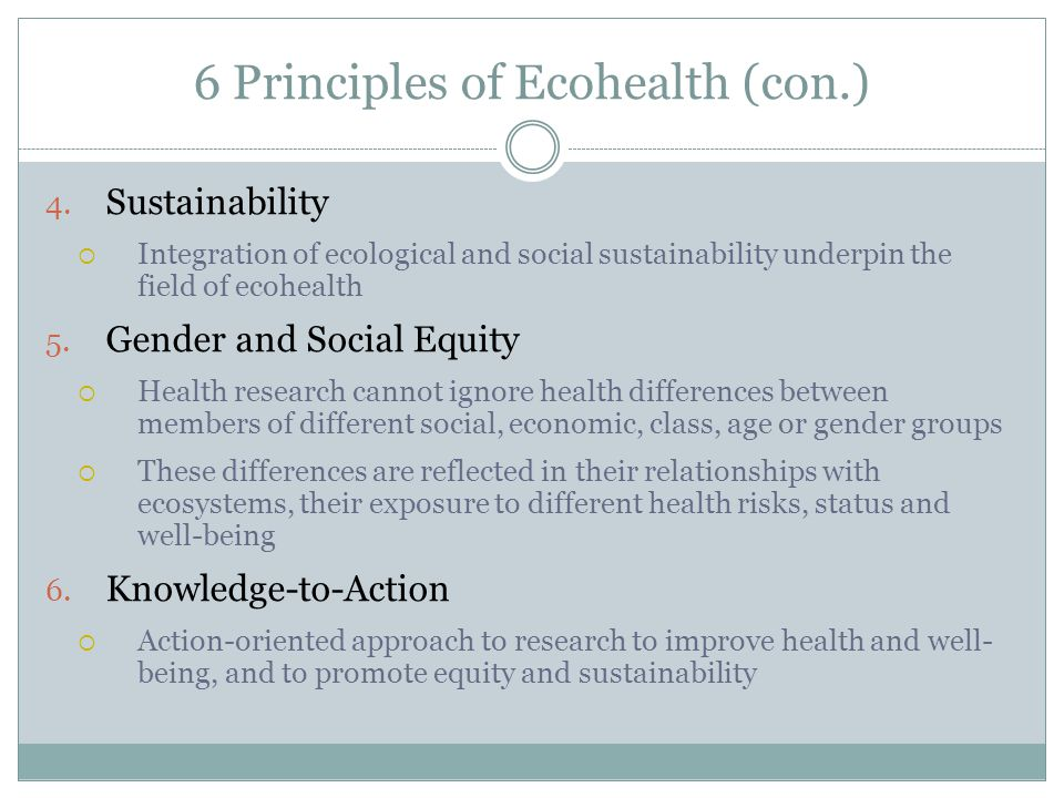IDRC and Ecohealth Good health is essential for development.