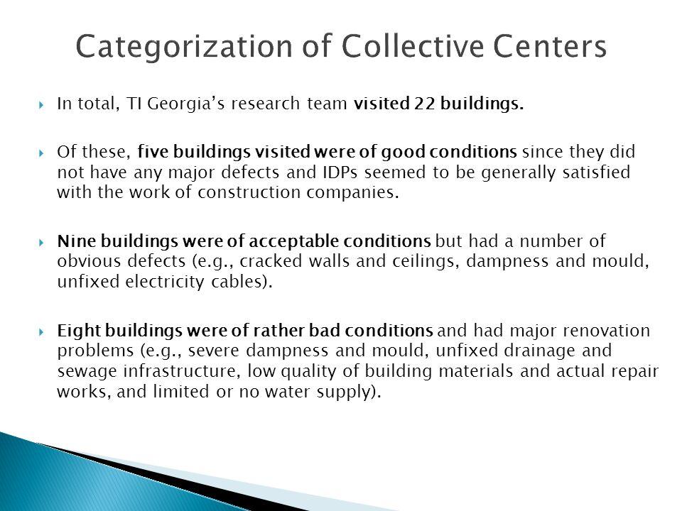 In total, TI Georgias research team visited 22 buildings.