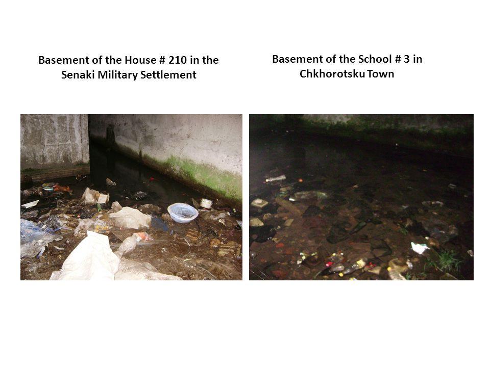 Basement of the House # 210 in the Senaki Military Settlement Basement of the School # 3 in Chkhorotsku Town