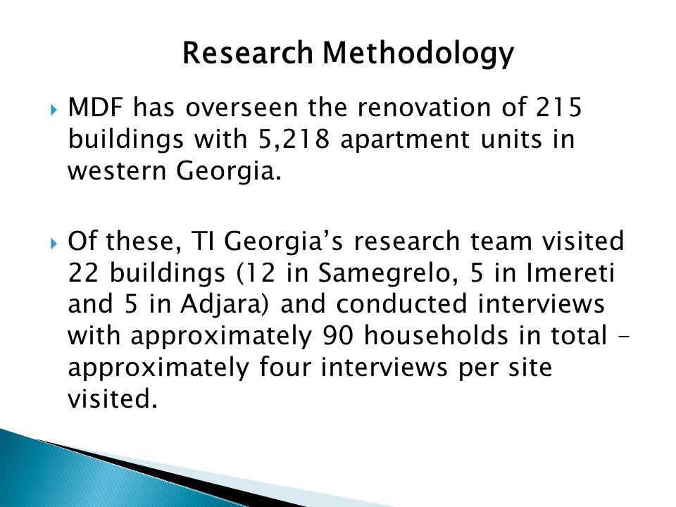 MDF has overseen the renovation of 215 buildings with 5,218 apartment units in western Georgia.