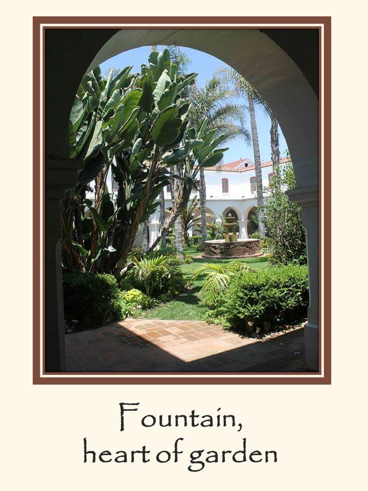Fountain, heart of garden