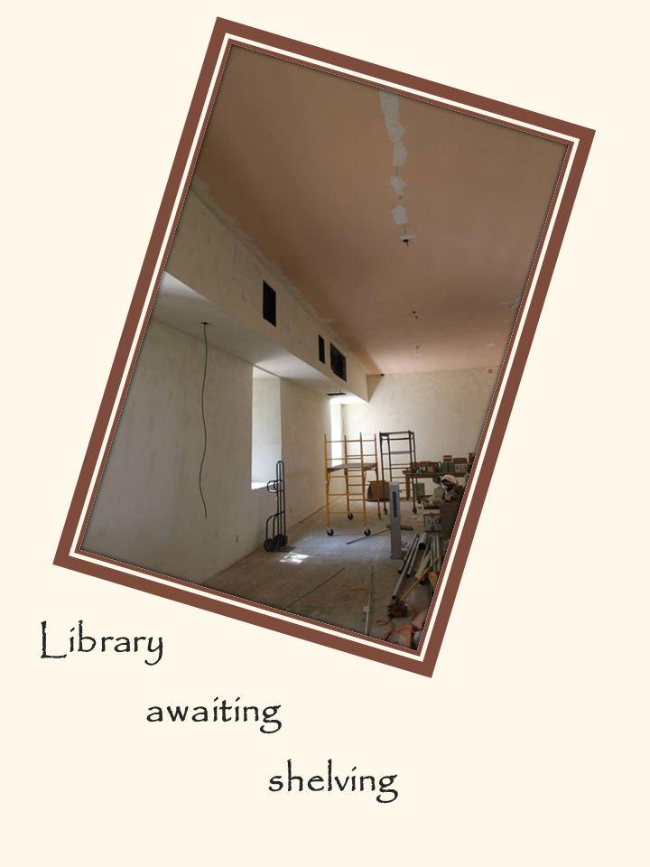 Library awaiting shelving