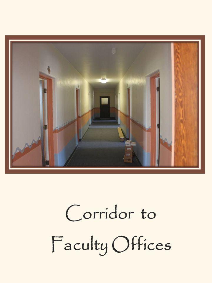 Corridor to Faculty Offices