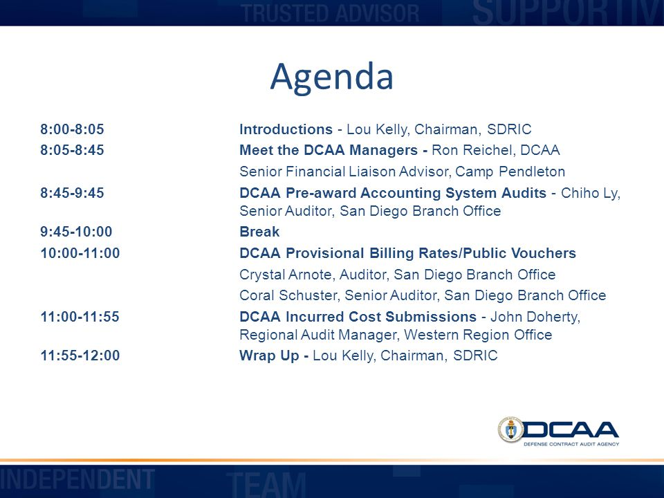 Other Schedules Provided by ICE The ICE program provides the following additional Schedules: Computation of Allowable IR&D/B&P costs (usually only applicable to major contractors) Comparative Analysis by pool and account Reconciliation of claim to corporate income tax return Contract Brief Executive Compensation form 123