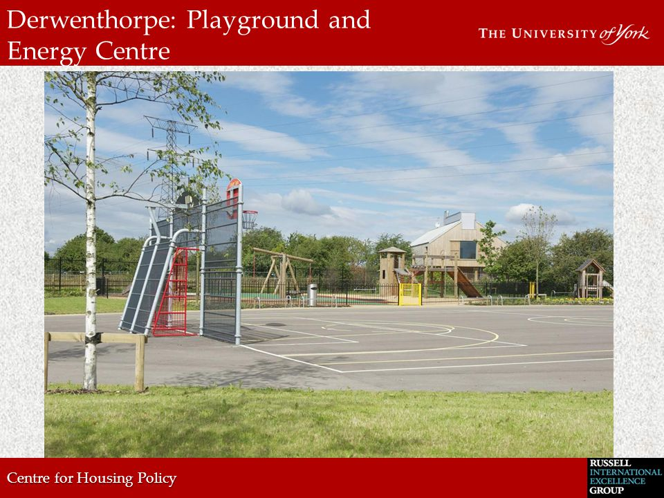 Centre for Housing Policy Derwenthorpe: Pond/ Green spaces