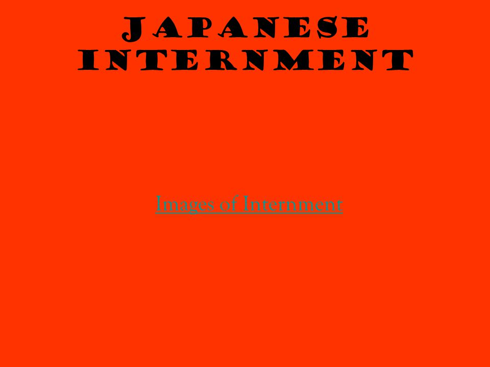 Japanese Internment Images of Internment