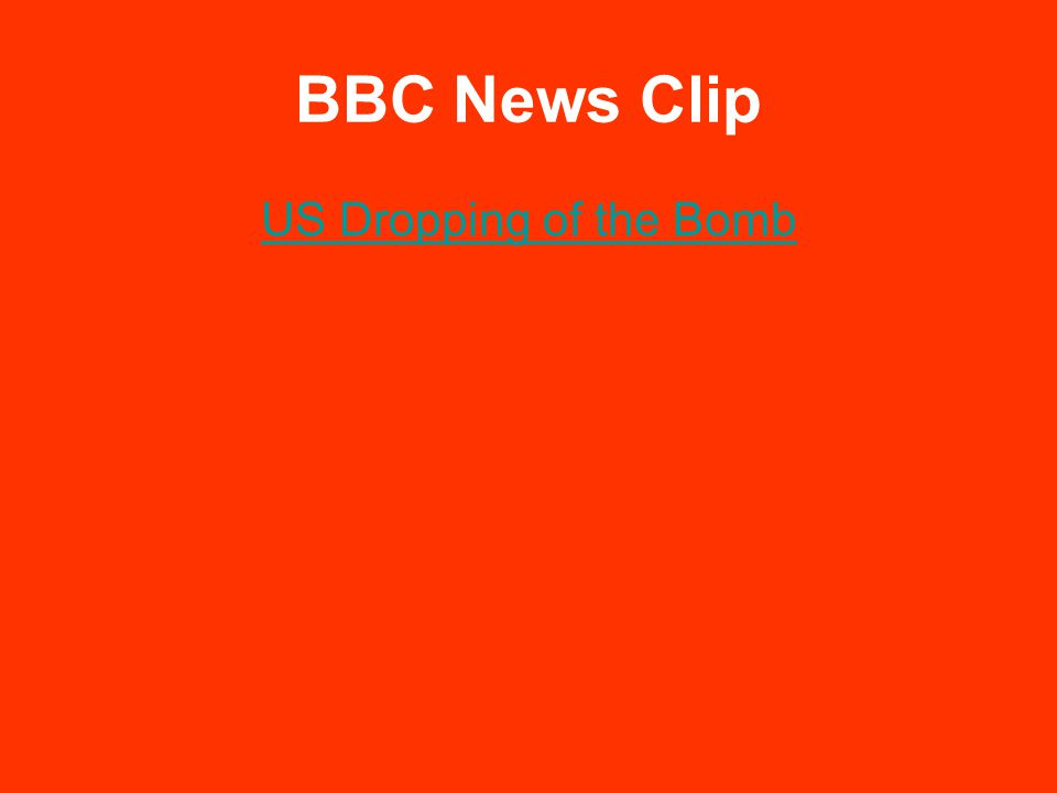 BBC News Clip US Dropping of the Bomb