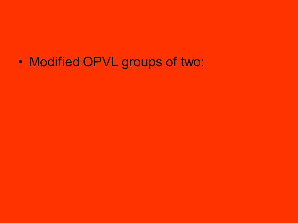 Modified OPVL groups of two: