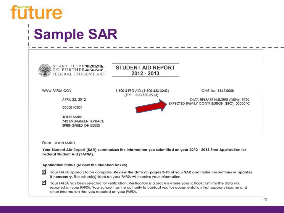 Sample SAR 20