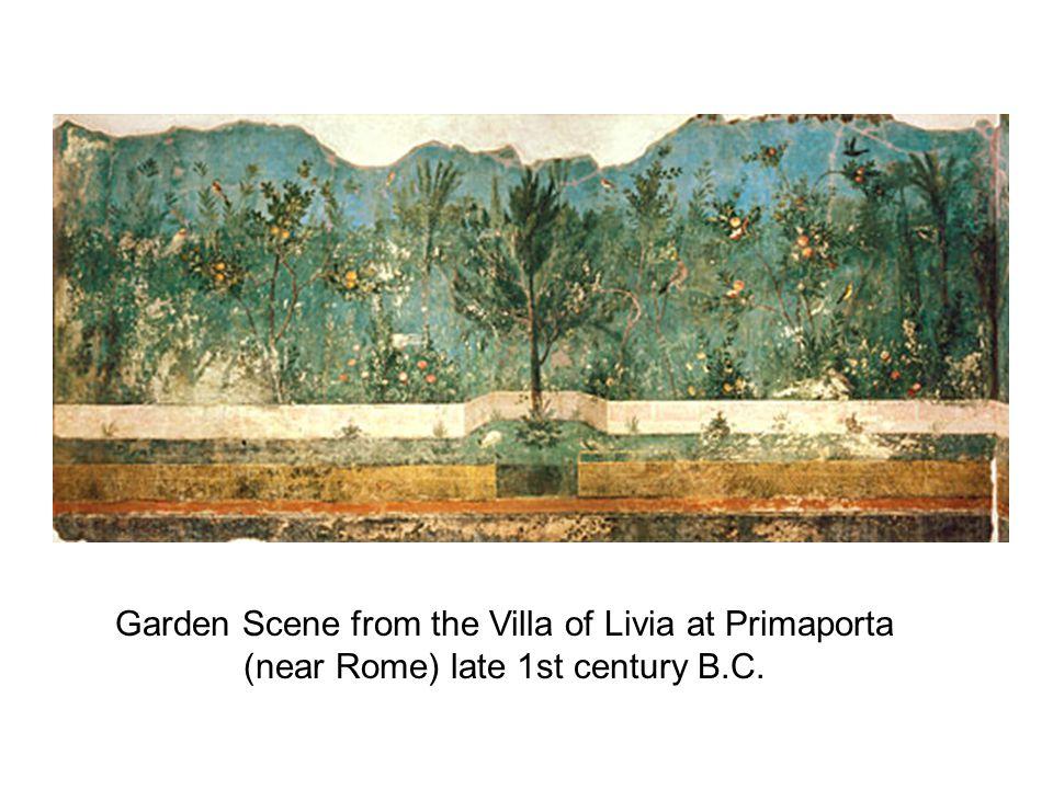 Garden Scene from the Villa of Livia at Primaporta (near Rome) late 1st century B.C.