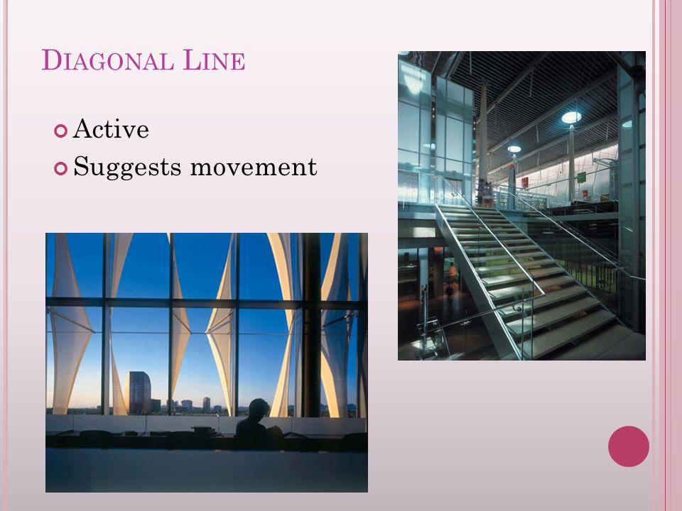 D IAGONAL L INE Active Suggests movement