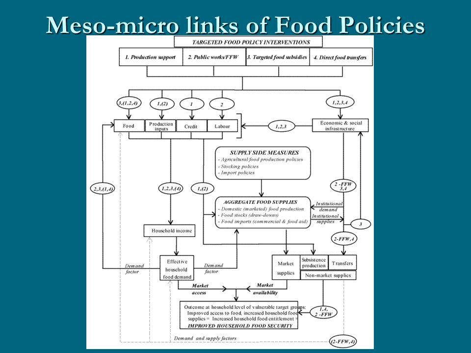 Meso-micro links of Food Policies