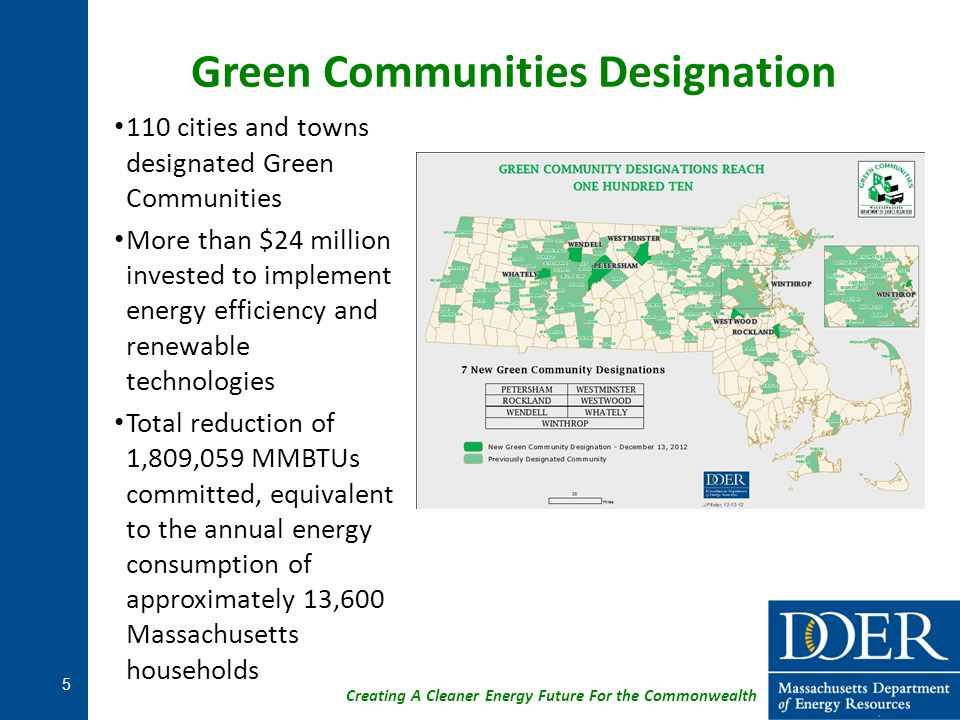 Innovative Utility Vendor Contracting DCAMM is signing direct contracts with utility vendors with the authority of the MA Green Communities Acts.