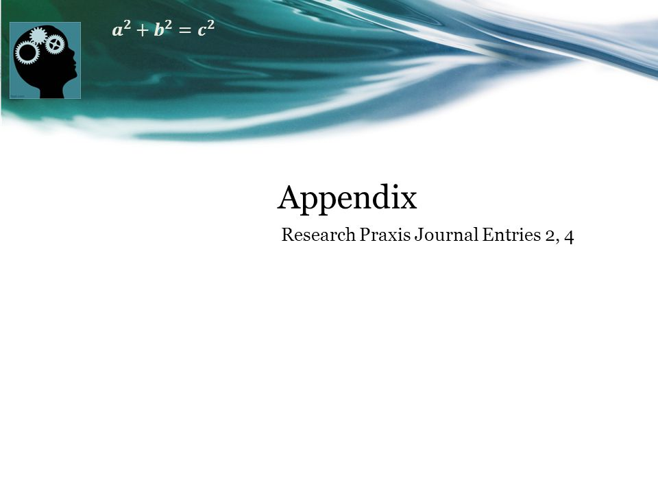 Appendix Research Praxis Journal Entries 2, 4