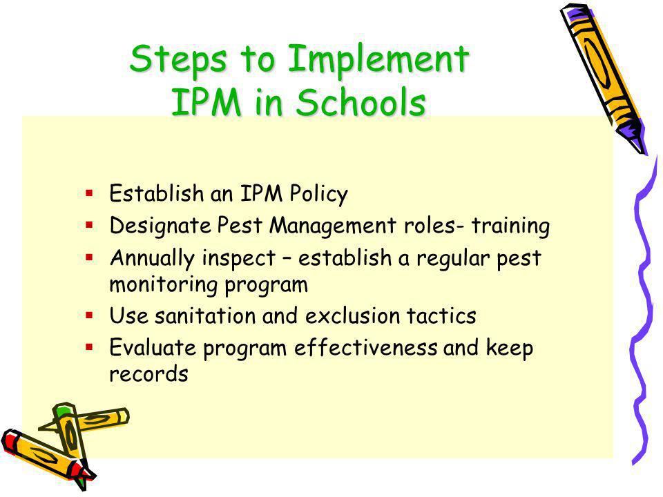 Why Implement IPM.