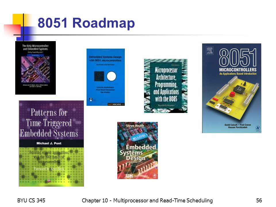 BYU CS 345Chapter 10 - Multiprocessor and Read-Time Scheduling56 8051 Roadmap
