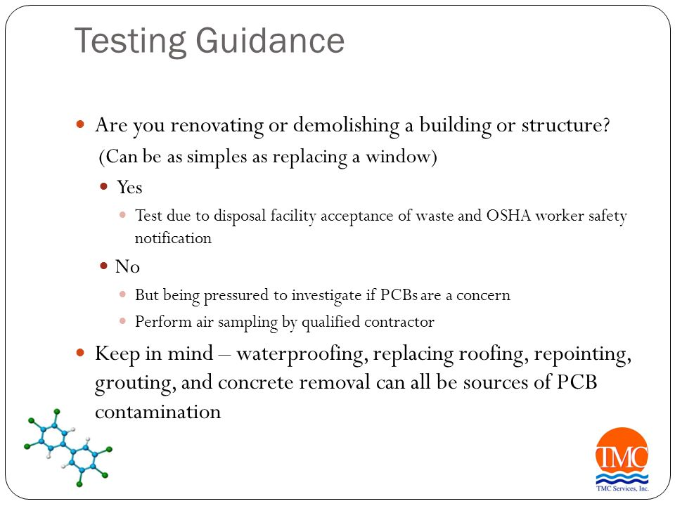Remediation/Abatement Process What to do once you find PCBs.