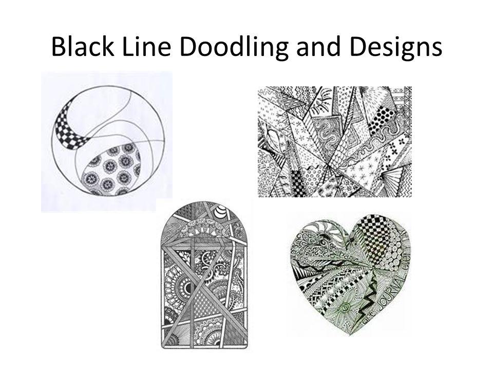 Black Line Doodling and Designs