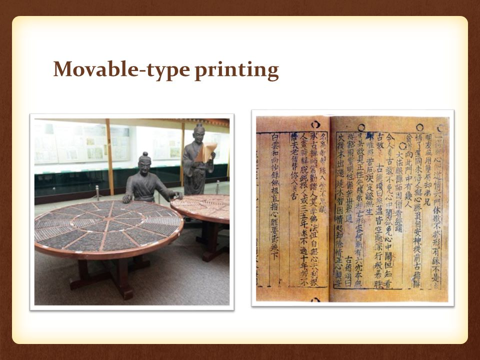 Movable-type printing