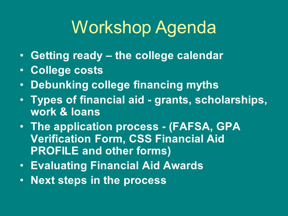 FAFSA: Step Five Questions 95 – 102: Independent students & spouses (if married) household size & number in college 2013 Federal Benefit Programs Dislocated worker