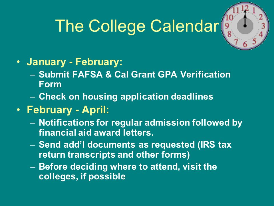 55 Free Application for Federal Student Aid (FAFSA) FAFSA is the central element in federal student aid application process Asks for familys financial and demographic information Used to calculate Expected Family Contribution based on federal methodology (FM) Used to confirm certain student eligibility criteria via database matches with federal agencies