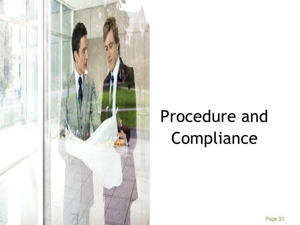 Manish Tyagi Ernst & Young Page 33 Procedure and Compliance