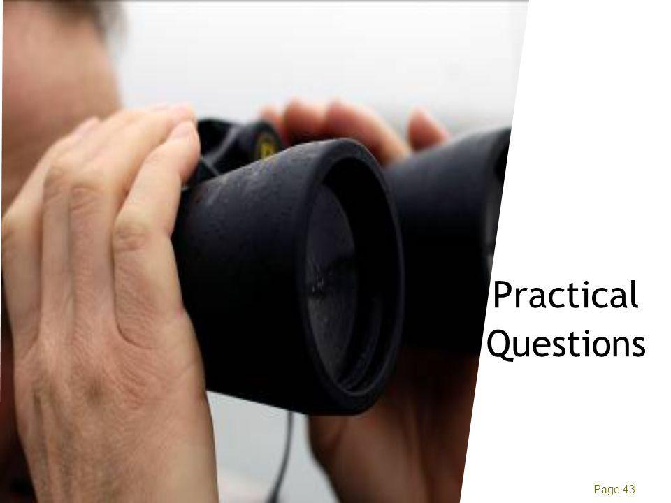 Manish Tyagi Ernst & Young Page 43 Practical Questions