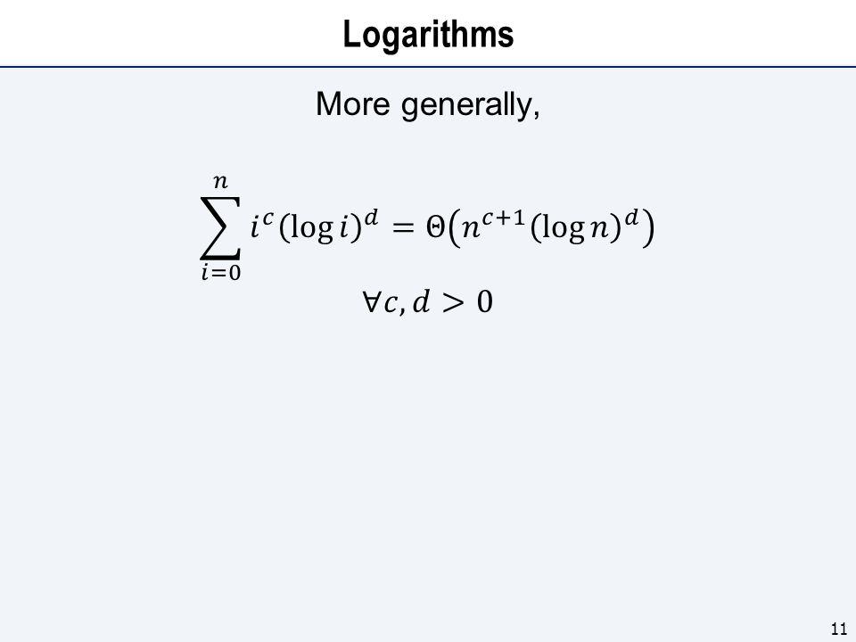Logarithms 11